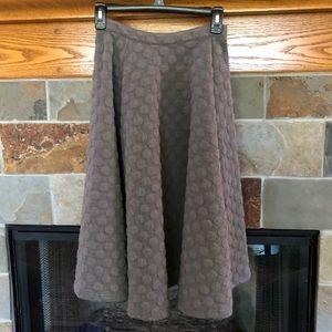 JOA Full Circle Skirt, Midi Length, Soft Gray